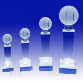 Crystal Basketball Trophy TH093 (Size: Small)